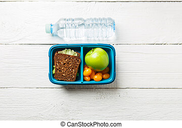 Photo of fitness snack in container