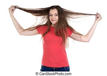 Photo of funny teenage girl