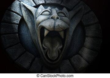 gargoyle - photo of gargoyle with open mouth