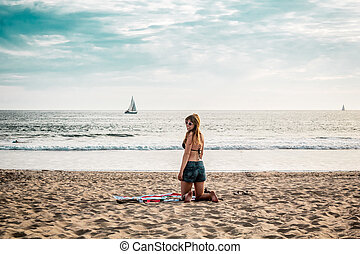 Girl at Venice Beach, California