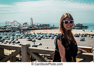 Girl in Santa Monica, California