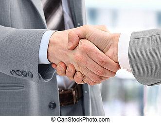 Photo of handshake of business