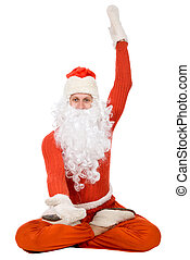 Photo of happy Santa Claus