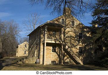 Photo of Henry Hastings Sibley House in village of Mendota Minnesota