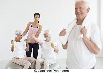 Photo of ladies working out