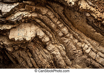 photo of layered rock formation