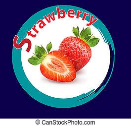 Photo of macro bright strawberries