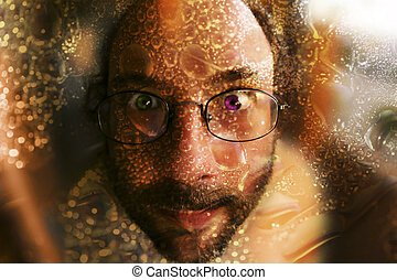 photo of man with glasses