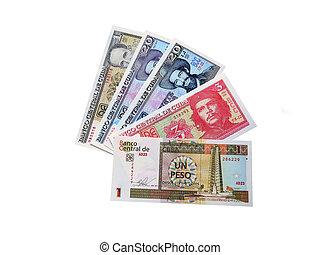 Photo of modern Cuban banknotes