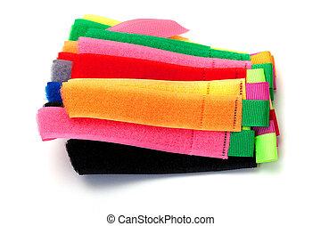 photo of multicolor velcro straps
