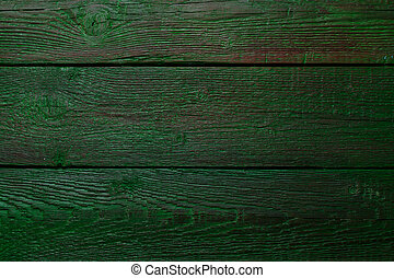 Photo of old green wooden background