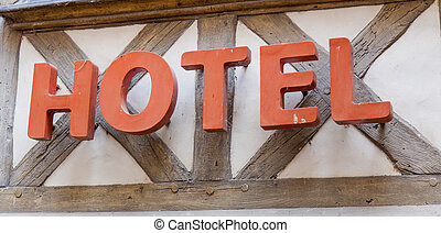 photo of old signboard of hotel