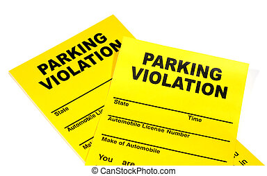 Parking Violation - Photo of Parking Violation Tickets