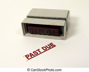 Past Due - Photo of Past Due Stamp