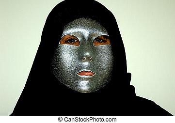 Masquerade - Photo of Person Wearing a Silver Masquerade...