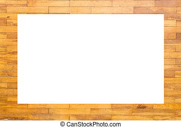 Picture frame wood block wall texture