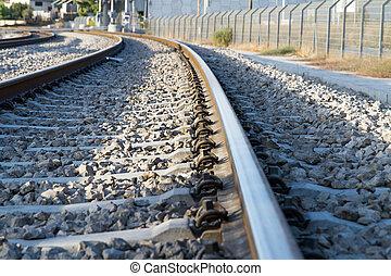 Photo of railway tracks. - Beautiful photo of railway tracks...