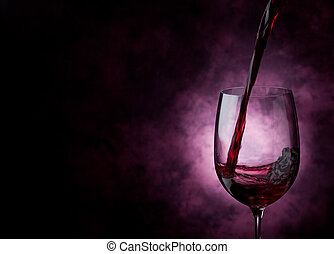 Wine - Photo of Red Wine inside a wine glass with abstract ...