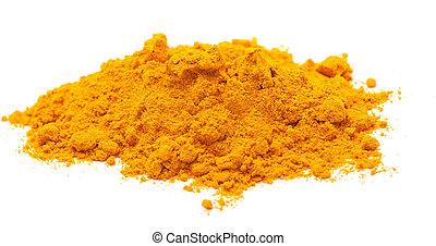photo of saffron on white background