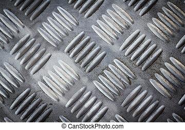 Seamless steel diamond plate texture