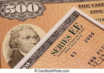 Savings Bond - Photo of Series EE Savings Bond.