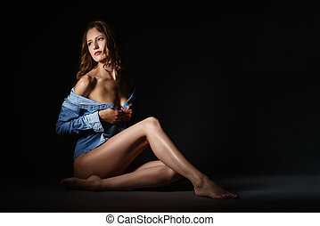 Photo of sexual woman with perfect body