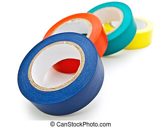 insulating tape - Photo of some multicolored insulating ...
