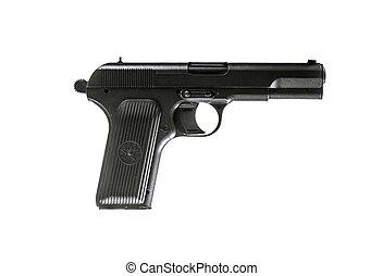 TT pistol - Photo of soviet gun isolated on white. TT pistol