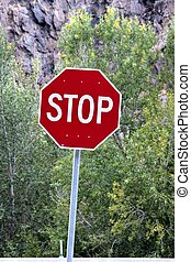 stop sign - photo of stop sign
