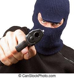 Photo of terrorist with gun
