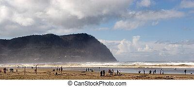 Seaside, Oregon - Photo of the beautiful beach at Seaside,...