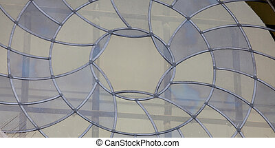 photo of the beautiful stained-glass window on the lattice background