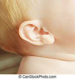 Photo of the child's ear