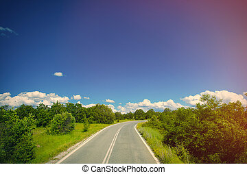 photo of the country side road in Greece