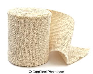 elastic bandage - photo of the elastic bandage against the...
