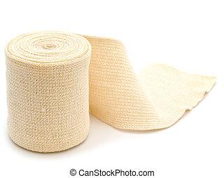 photo of the elastic bandage against the white background