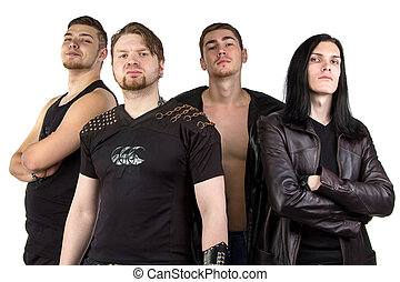 Photo of the man's metal band