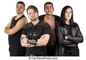 Photo of the metal band in black clothes