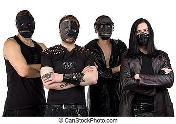 Photo of the metal band in masks
