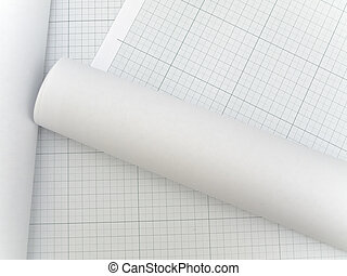 Photo of the plotting paper