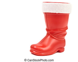 red christmas boot - Photo of the red christmas boot against...