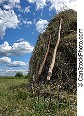 Photo of the stack of hay