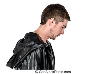 Photo of the young man in profile