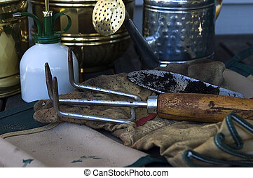 Photo of Various Gardening Tools.