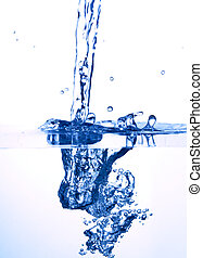 photo of water spalsh on white background