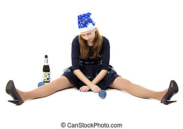 Photo of woman after christmas party