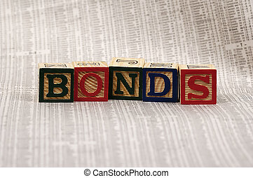 Bonds - Photo of Wooden Blocks Spelling the Word Bonds