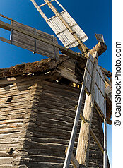 Photo of wooden old mill