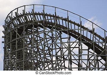 Wooden Rollercoaste
