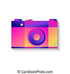 photo, ombre, appareil photo, retro, icône